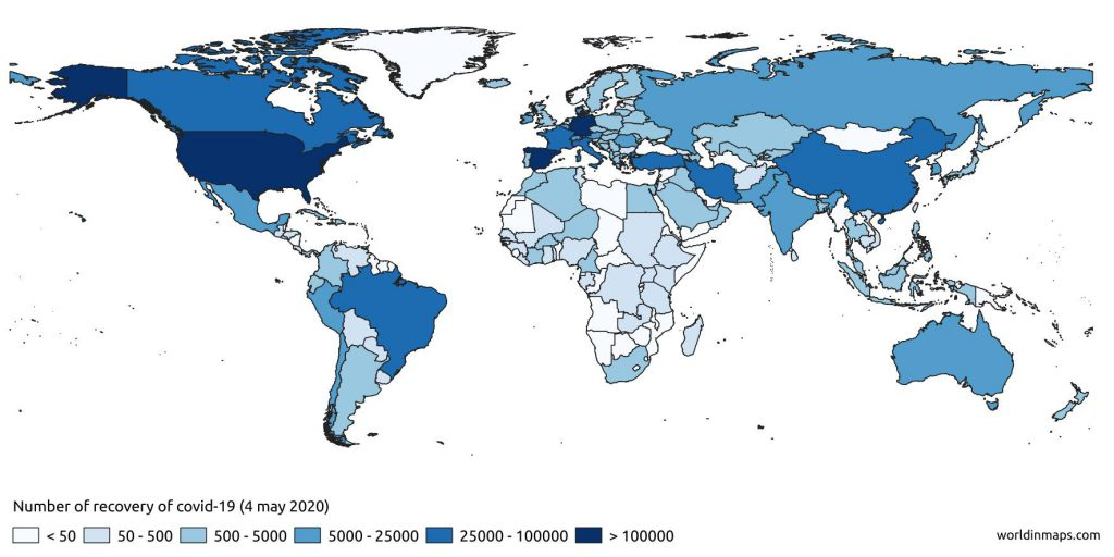 coronavirus number of recovery in the world