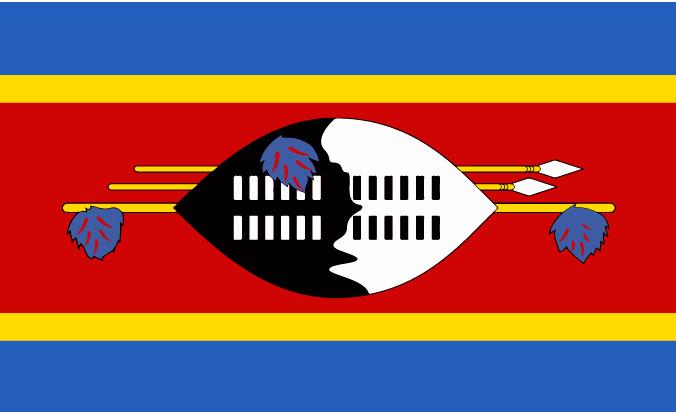 flag of Eswatini (Swaziland)