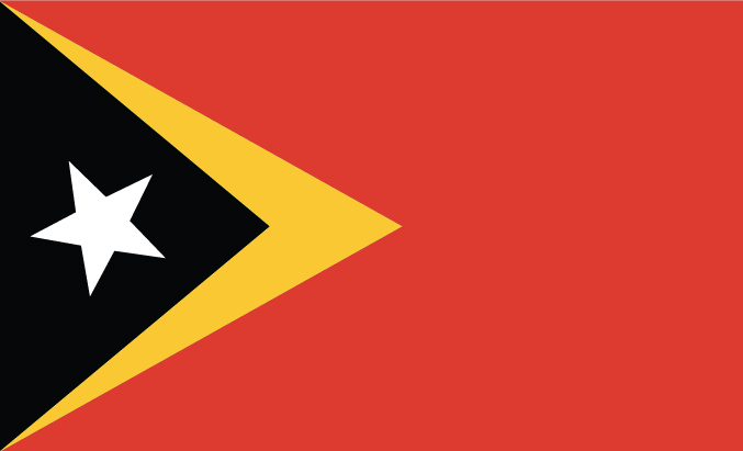 flag of Timor-Leste (East Timor)