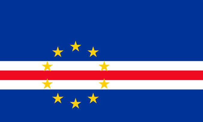 Flag of Cape Verde (or Cabo Verde)