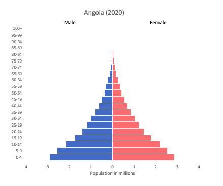 population pyramid of Angola