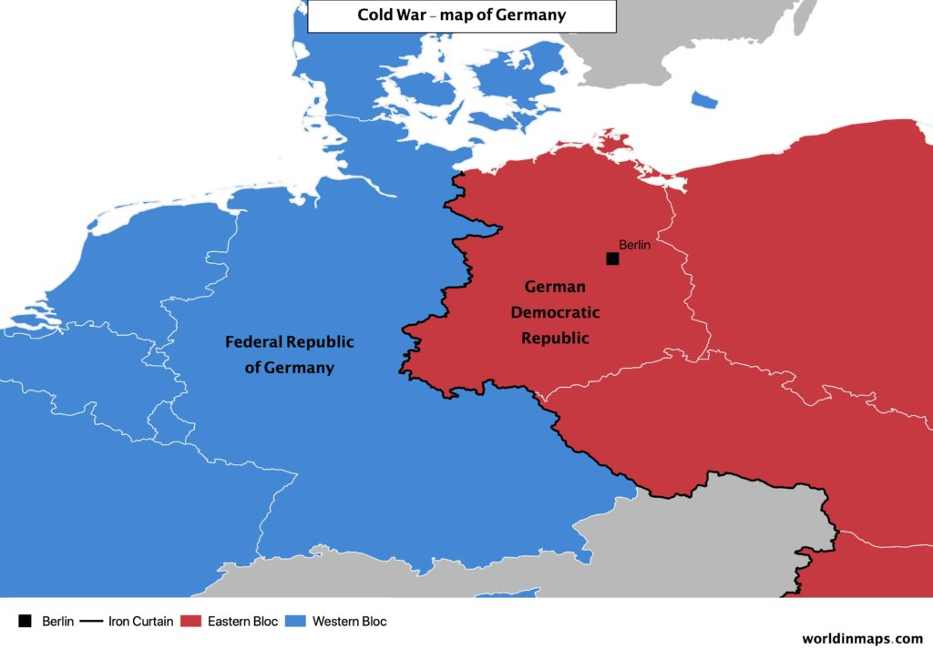 Cold war map of Germany
