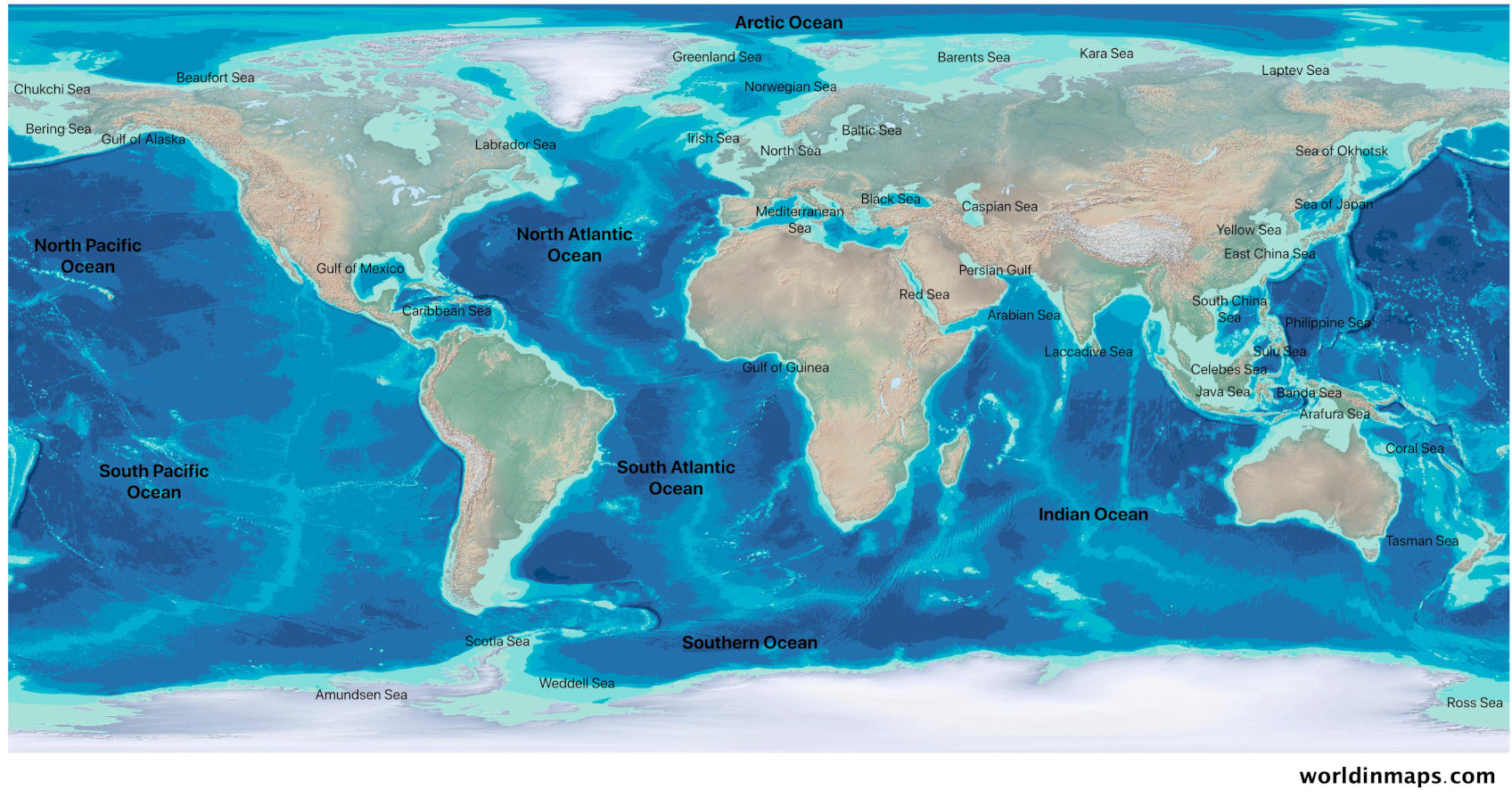 Picture of: World Oceans Map World In Maps