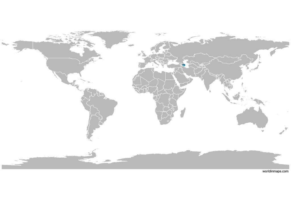 Azerbaijan on the world map