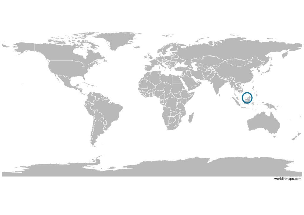Brunei on the world map
