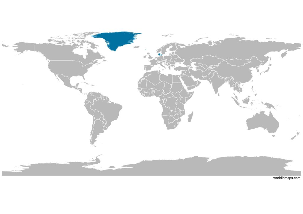 Denmark on the world map