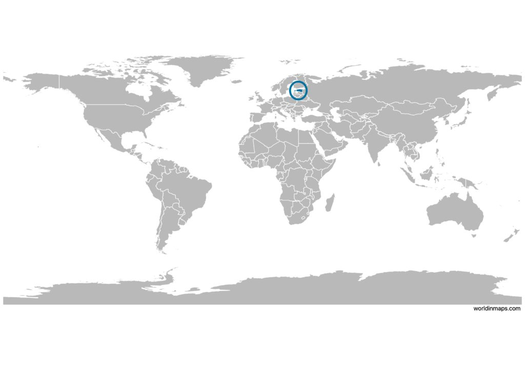 Estonia on the world map