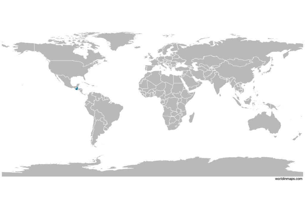 Guatemala on the world map