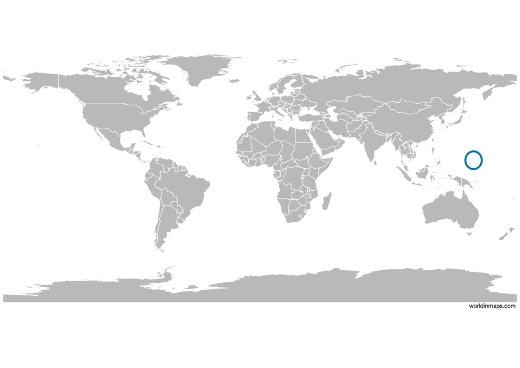 Federated States of Micronesia on the world map