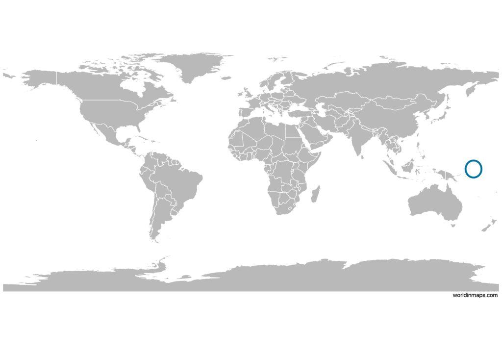 Nauru on the world map
