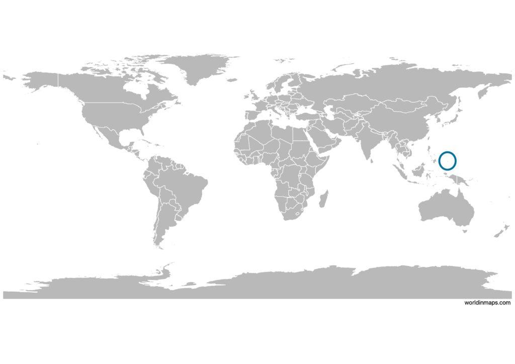 Palau on the world map