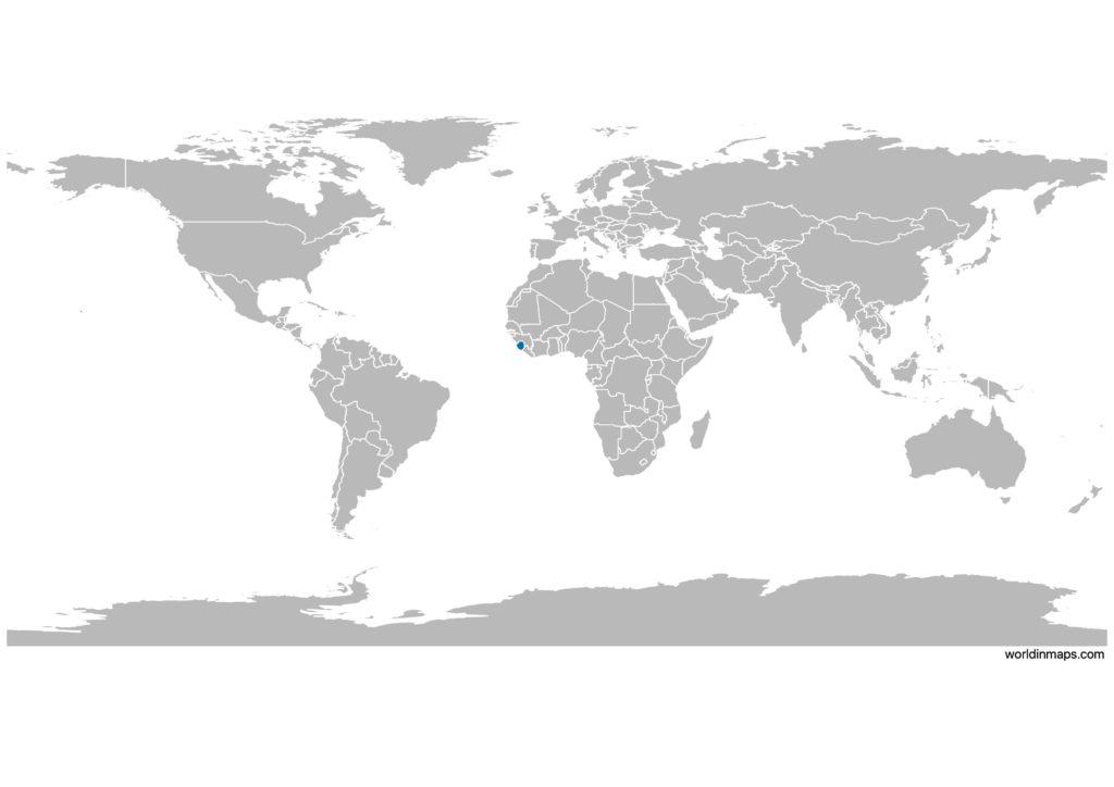 Sierra Leone on the world map