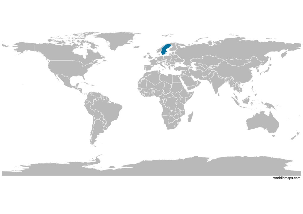 Sweden on the world map