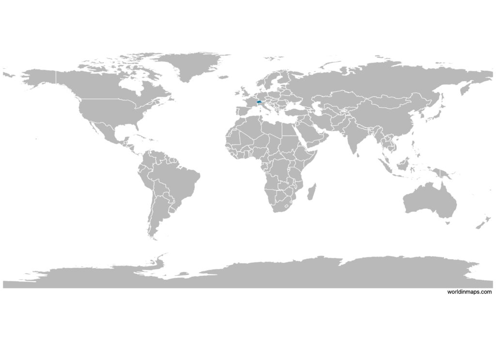 Switzerland on the world map