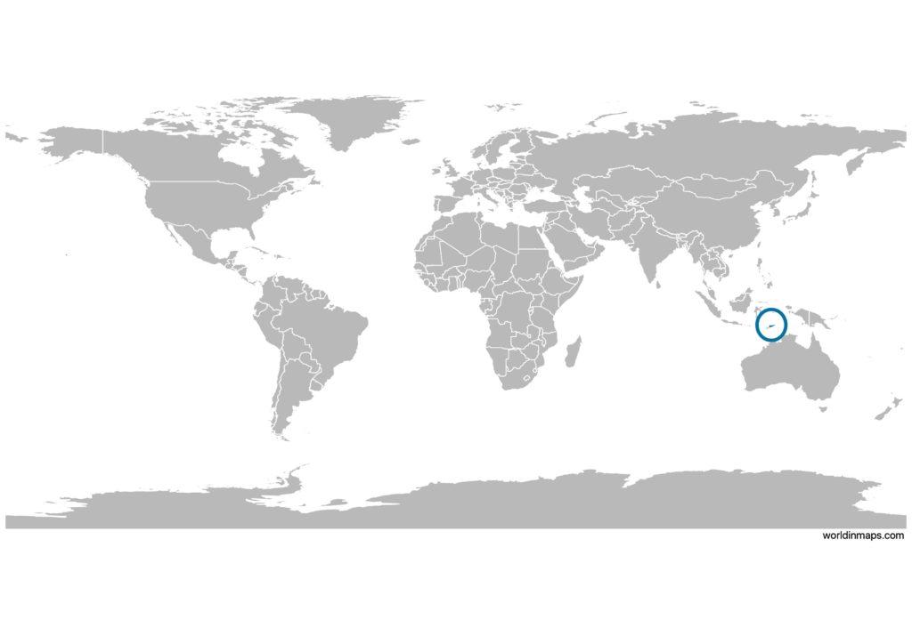 Timor-Leste (East Timor) on the world map