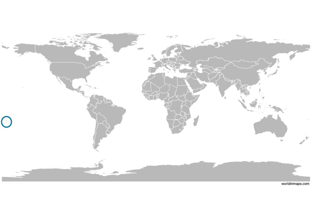 Tonga on the world map