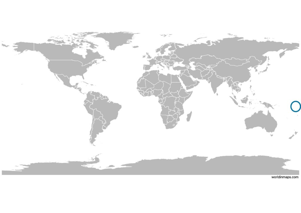 Tuvalu on the world map