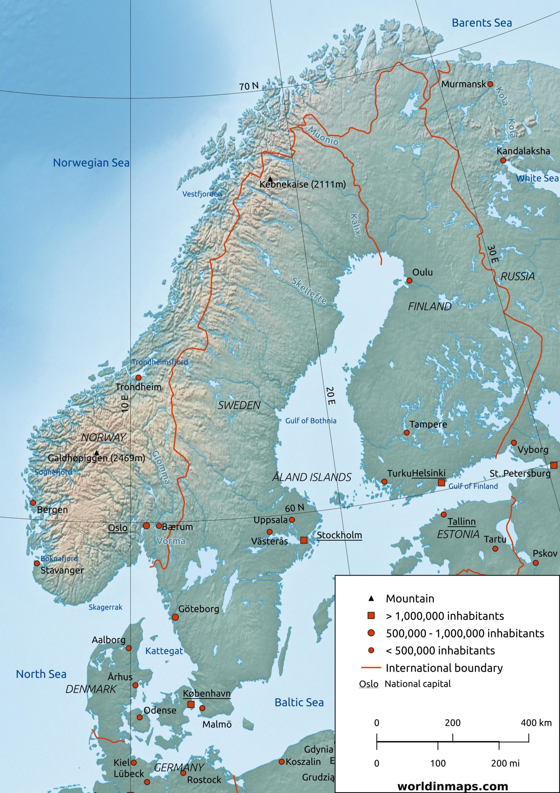 Picture of: Scandinavia World In Maps