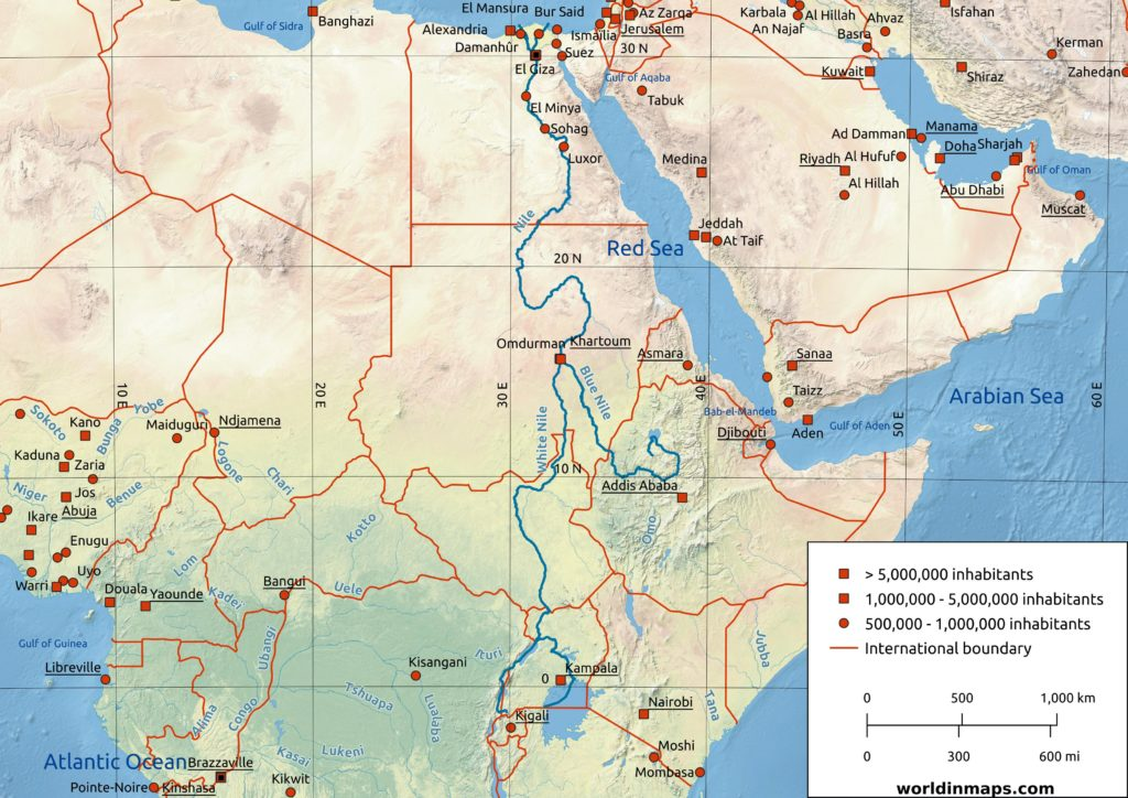 Nile river land cover map