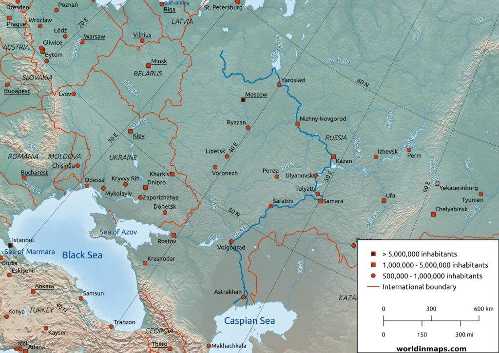 volga river map
