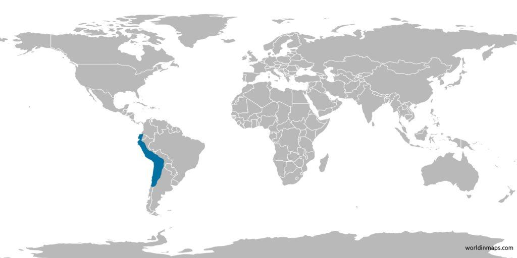 inca empire on world map