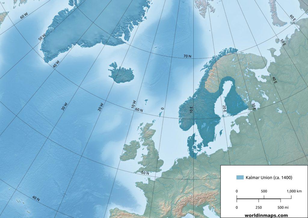 Kalmar Union map