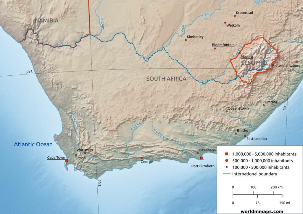 Orange River map