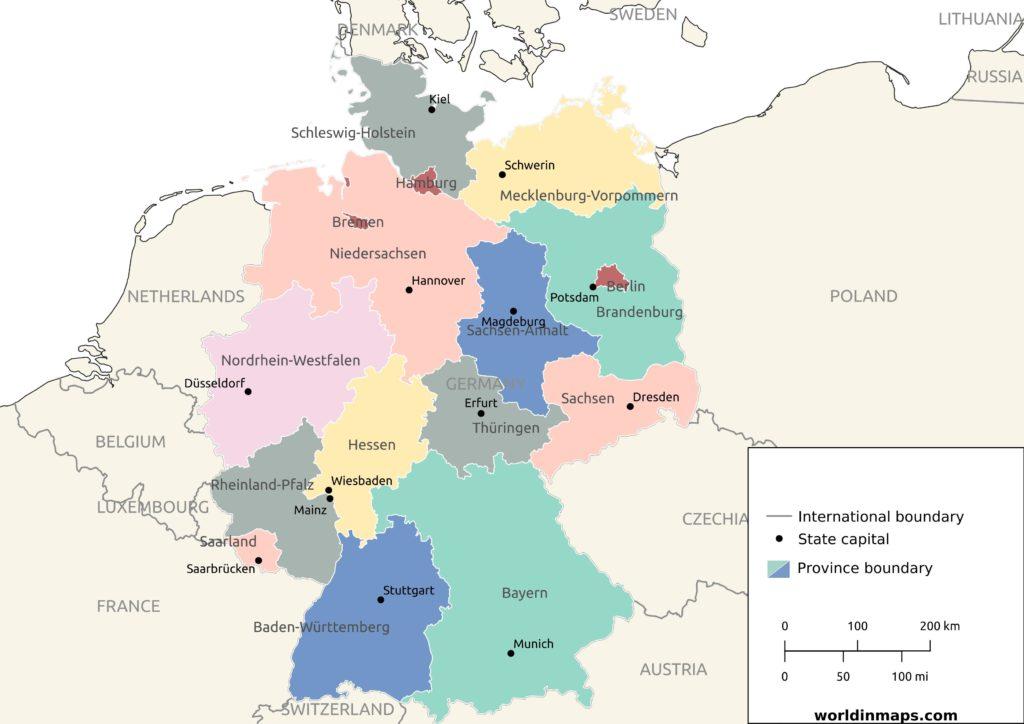 German states map