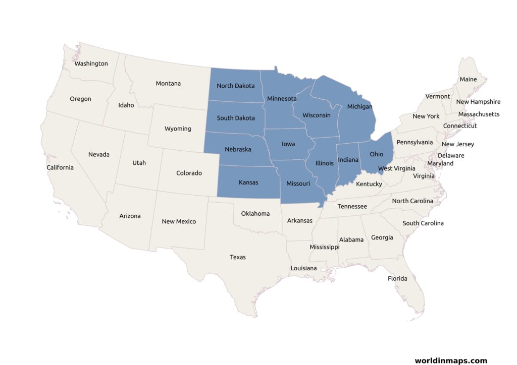map-of-midwest-states
