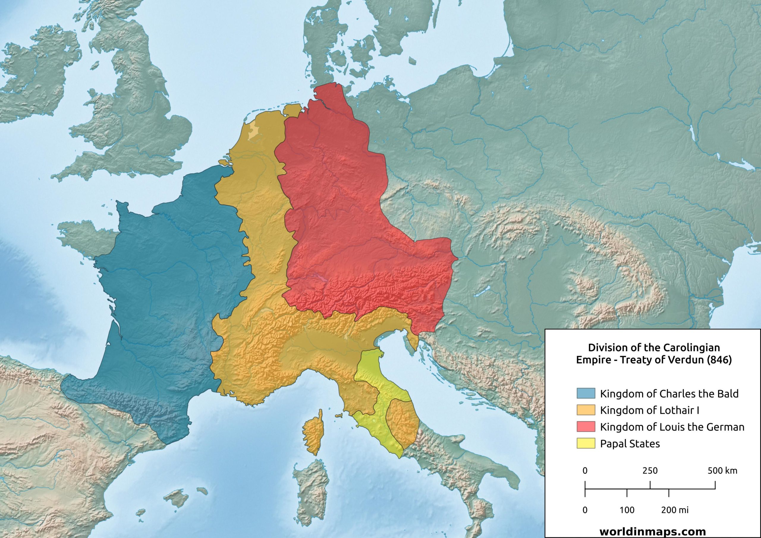 Picture of: Carolingian Empire World In Maps