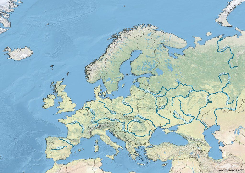 map of european rivers