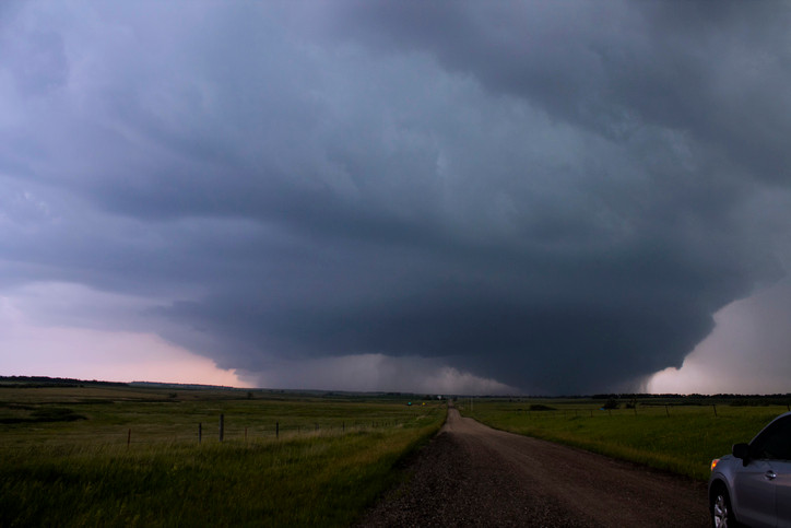 Picture of a wedge tornado